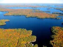 flyg- Great Lakes sikt royaltyfria bilder