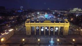 Flyg- härligt Moskvahelikoptersurr 4k arkivfilmer