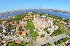 Flyg- Hagia Sophia Fotografering för Bildbyråer