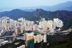 flyg- Hong Kong fotografi arkivbilder