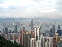 flyg- Hong Kong photogrpah Royaltyfri Fotografi