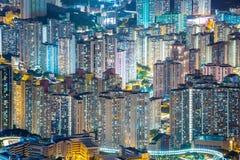 Flyg- Hong Kong Residential District Arkivfoton