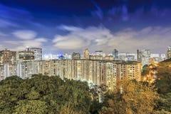 flyg- Hong Kong sikt Royaltyfri Bild