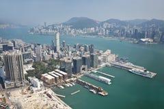 flyg- Hong Kong sikt Arkivbilder