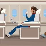 Flyg i affärsgrupp stock illustrationer