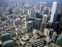 flyg- i stadens centrum toronto sikt Royaltyfri Foto
