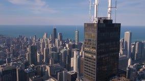 Flyg- Illinois Chicago Juli 2017 Sunny Day 4K inspirerar 2 arkivfilmer