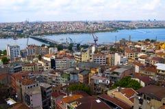 flyg- istanbul sikt Royaltyfri Bild