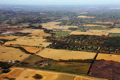 flyg- jordbruksmark Arkivfoto