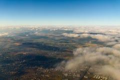 Flyg- jordhorisont Arkivfoto