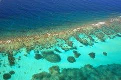 flyg- karibisk korallrev Royaltyfri Bild