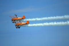 Flyg- konstflygning Eastbourne Airshow UK royaltyfria foton