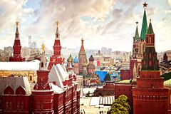 flyg- kremlin sikt Royaltyfri Bild