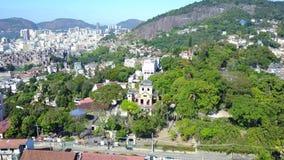 Flyg- längd i fot räknat Rio de Janeiro City och fjärd lager videofilmer