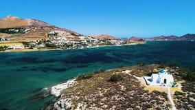 Flyg- landskap av öar stock video