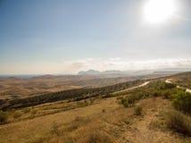 Flyg- landskap i Krim arkivfoto