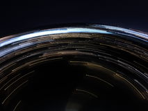 Flyg- ljus linje foto arkivbild