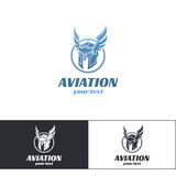 Flyg Logo Design One Royaltyfri Fotografi