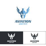 Flyg Logo Design Two Arkivfoto