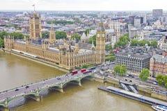 flyg- london sikt Royaltyfri Foto