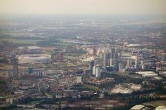 flyg- london sikt Arkivfoton