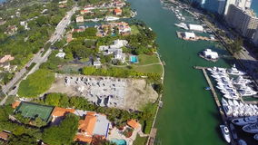 Flyg- lyxiga Miami Beach gods stock video