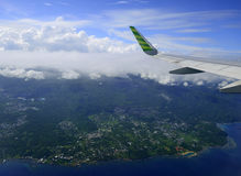 Flyg- Manado, Indonesien Royaltyfri Fotografi