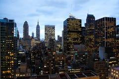 flyg- manhattan ny sikt york Arkivfoton