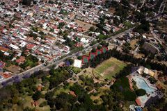flyg- mexico sikt Arkivbilder
