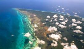 flyg- mexico sikt yucatan Arkivfoto