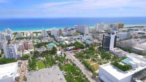 Flyg- Miami Beach arkivfilmer