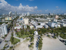 Flyg- Miami Beach Florida Royaltyfri Bild