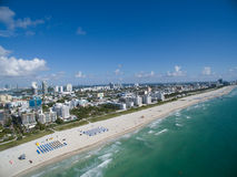 Flyg- Miami Beach Florida Arkivfoto