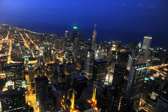 Flyg- mView av Chicago Royaltyfria Bilder