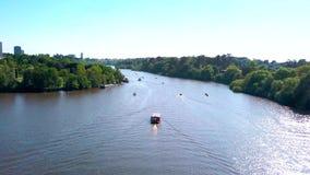 Flyg- Nantes Erdre flod arkivfilmer