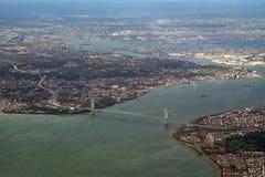 flyg- New York Arkivbild