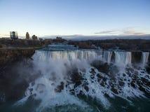 Flyg- Niagara Falls Arkivfoto