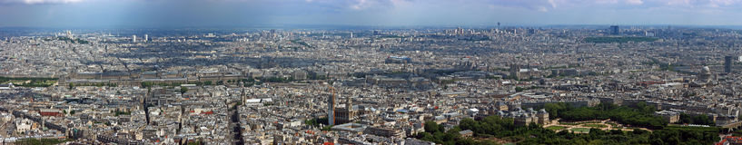 flyg- norr panorama paris Royaltyfria Bilder
