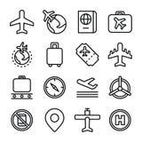 Flyg- och flygresabegreppssymbol Royaltyfri Bild