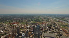Flyg- Oklahoma oklahoma city stock video