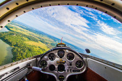 Flyg på en glidflygplan Royaltyfri Fotografi