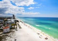 Flyg- Panama City för våravbrott strand, Florida, USA fotografering för bildbyråer