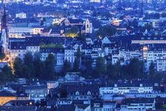 Flyg- panorama av Baseln Arkivbild