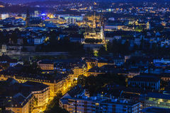 Flyg- panorama av Baseln Royaltyfri Foto