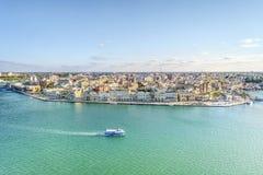 Flyg- panorama av Brindisi, Puglia, Italien royaltyfria bilder