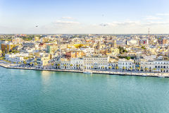 Flyg- panorama av Brindisi, Puglia, Italien fotografering för bildbyråer