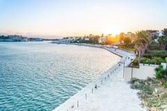 Flyg- panorama av Brindisi, Puglia, Italien royaltyfri foto