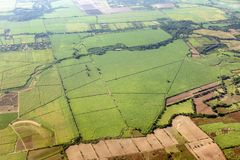 Flyg- panorama av lantliga regioner av El Salvador Royaltyfri Bild