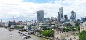 Flyg- panorama av London royaltyfria bilder