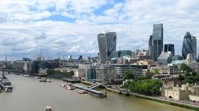 Flyg- panorama av London royaltyfri fotografi
